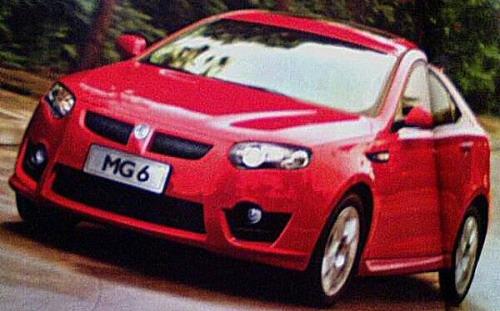 荣威550两厢车型国外挂MG6车标全新亮相 图3高清图片