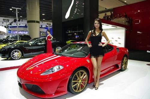 法拉利顶配612 scaglietti 2008广州车展上首发高清图片