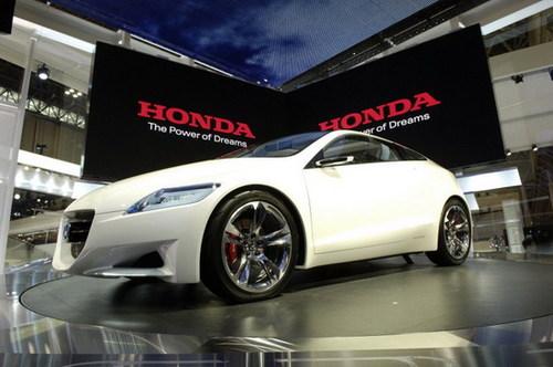 前卫的油电混合车 本田CR Z概念车亮相高清图片