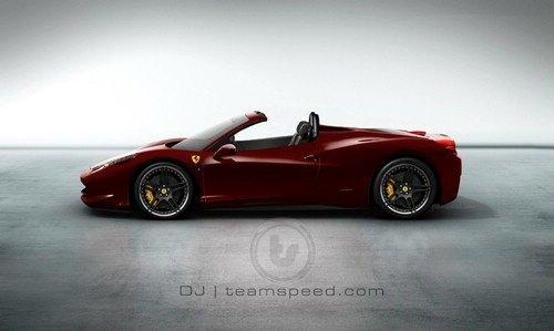 起售19.7万欧元 法拉利458敞篷图片曝光高清图片