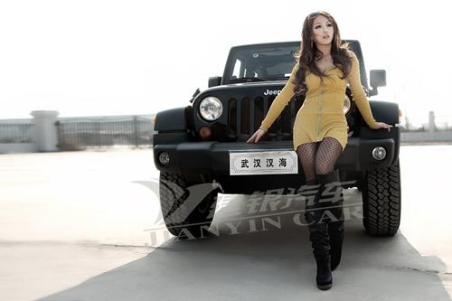 建银汽车杯 寻找江城最美车模外景拍照_科雷傲