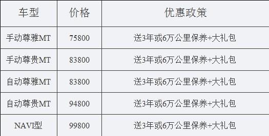 东风风神S30全系促销送保养加大礼包