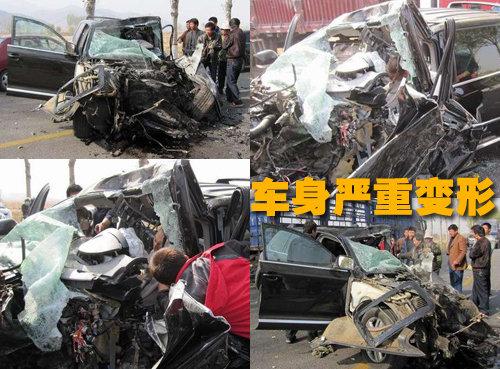 国道安全驾驶很重要 途锐 惨烈车祸 图2 汽高清图片