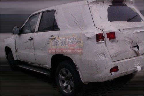 借鉴雷克萨斯LX 吉奥新高端SUV伪装谍照