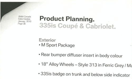 采用双增压发动机 宝马将推2011款335i