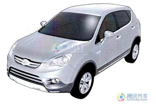 侧面类似逍客 江淮新款SUV定妆照曝光