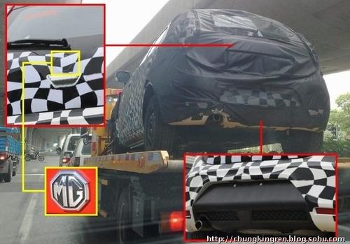 或将定名为MG2 荣威150两厢车谍照曝光