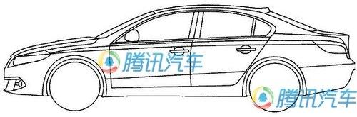 瑞麒G5换代车型? 奇瑞B25整车线图曝光