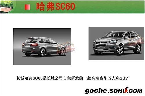 哈弗H6/SC60 长城两款高端SUV车型曝光