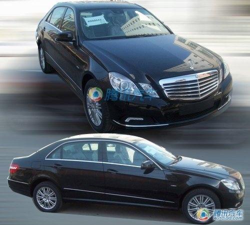 预计售45万起 奔驰E级加长版清晰谍照