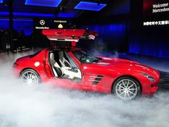 北京车展实拍 现代的复古之风-奔驰SLS