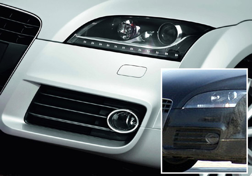 减配LED灯组 2011款奥迪TT国内路试照