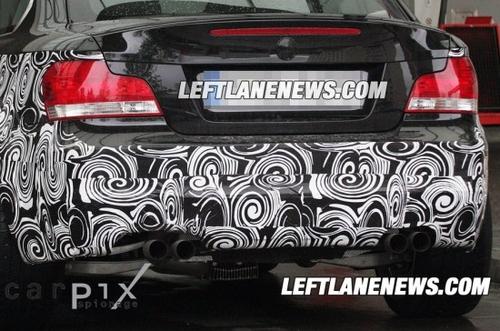 四排气管设计 宝马1系M Coupe最新谍照