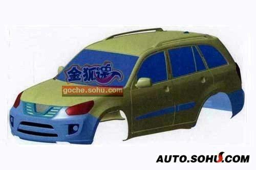 瑞虎中期改款 奇瑞两款新车设计图曝光