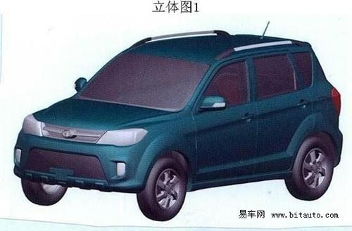 定位紧凑型SUV 长城哈弗M3渲染图曝光