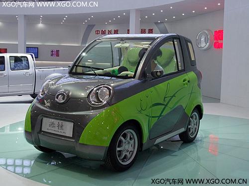 欧拉   汽车最新开发的一款两人座纯电动新能源车——   长高清图片