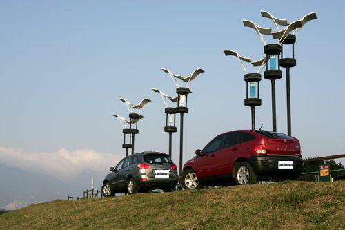 韩系SUV的比拼 现代圣达菲对比双龙爱腾高清图片