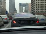 轴距将加长 全新奔驰S级路试车现身上海