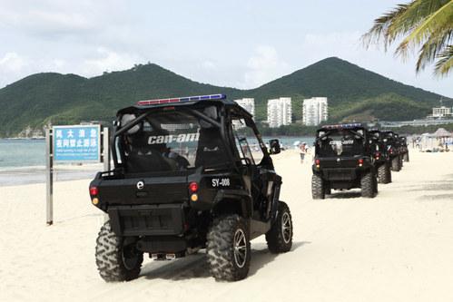 庞巴迪全地形车加入三亚海滩巡逻阵营