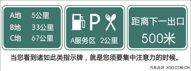 在高速路上,路遇 高速路出口一般都会有指示牌提前提示.