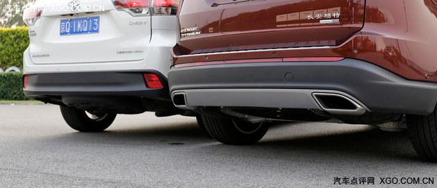 最直白的较量 福特锐界对比丰田汉兰达