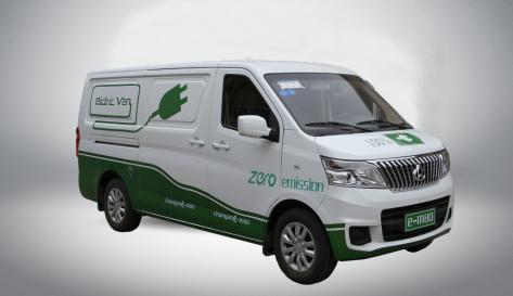 绿色新能源汽车进入物流行业新趋势高清图片