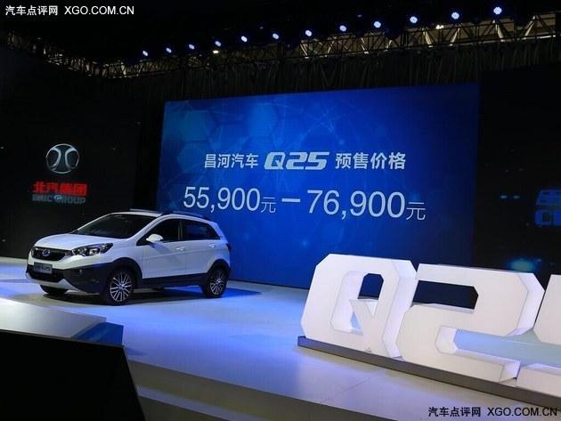 昌河Q25在景德镇工厂下线 定位小型SUV