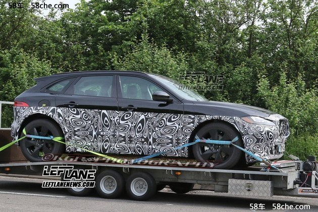 捷豹全新SUV-J PACE谍照 将搭混动系统