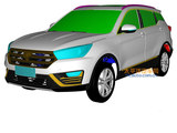 曝汉腾新紧凑型SUV专利图 2017年发布