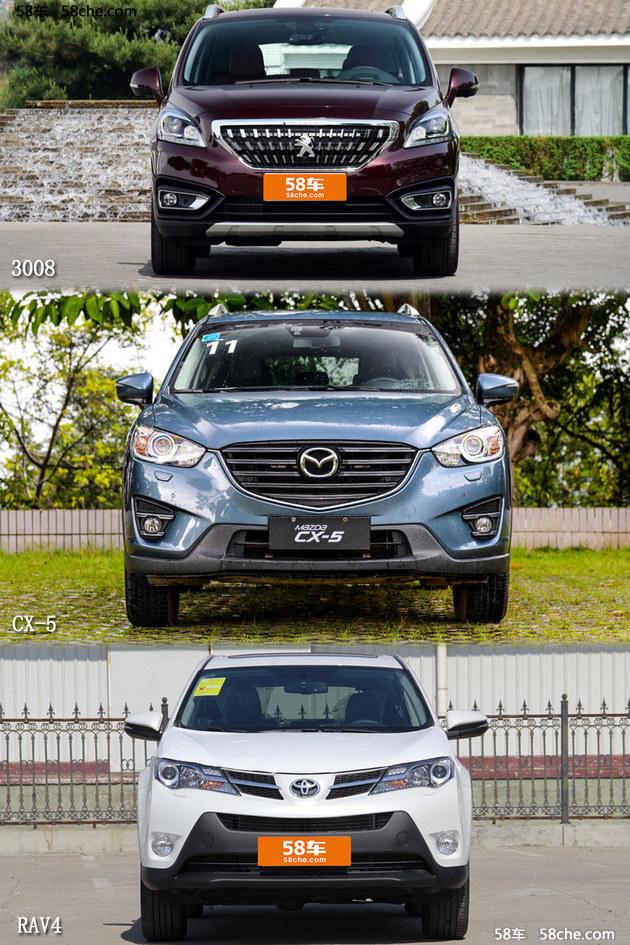 合资紧凑SUV之争 对比3008/CX-5/RAV4