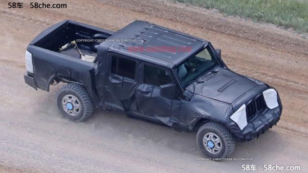 Jeep牧马人皮卡路试谍照 进军新领域