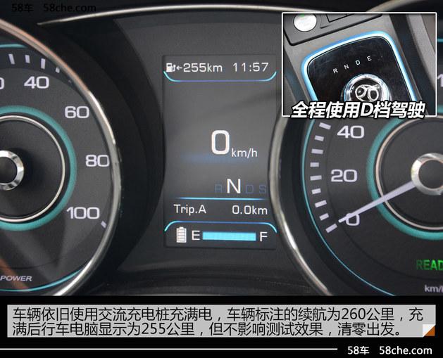 百公里电费六块多 北汽EU260能耗测试