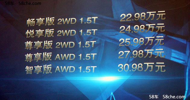 广汽讴歌CDX上市 售22.98-30.98万元