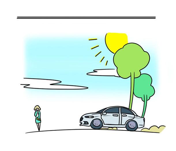 卡通全景车道图片素材
