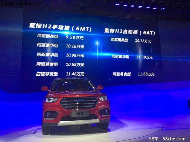 2016成都车展 哈弗H2蓝标 9.58-11.88万