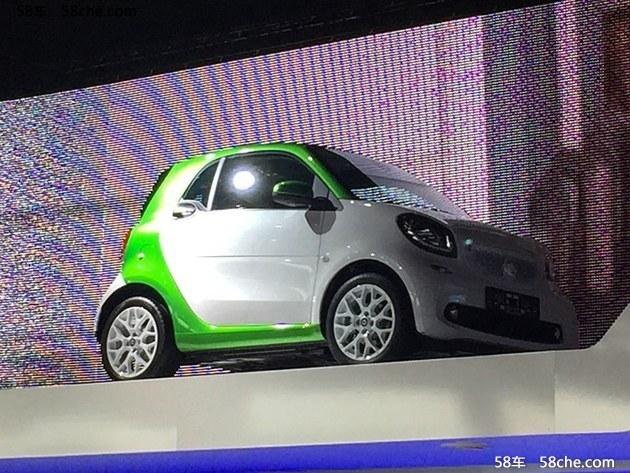 2016巴黎车展探馆 smart fortwo EV版本