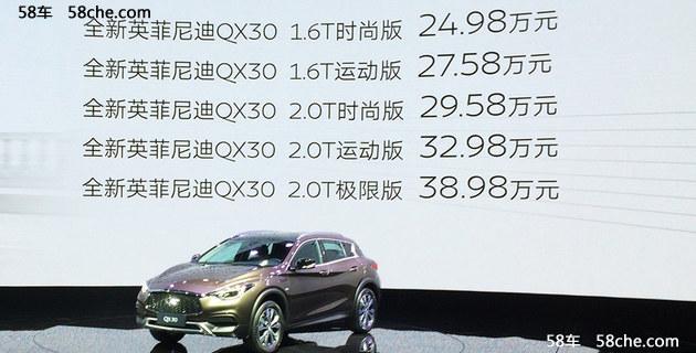 2016广州车展 英菲尼迪QX30售24.98万起