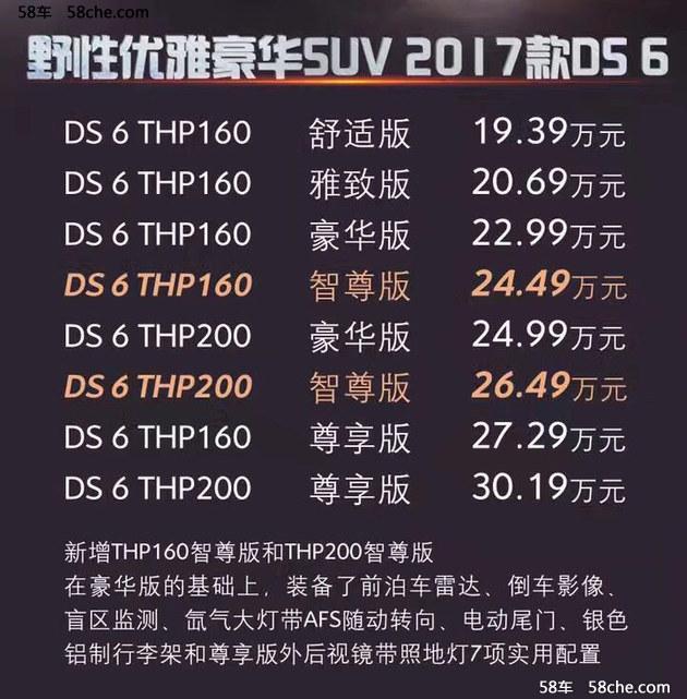 2016广州车展 2017款DS 6售19.39万起