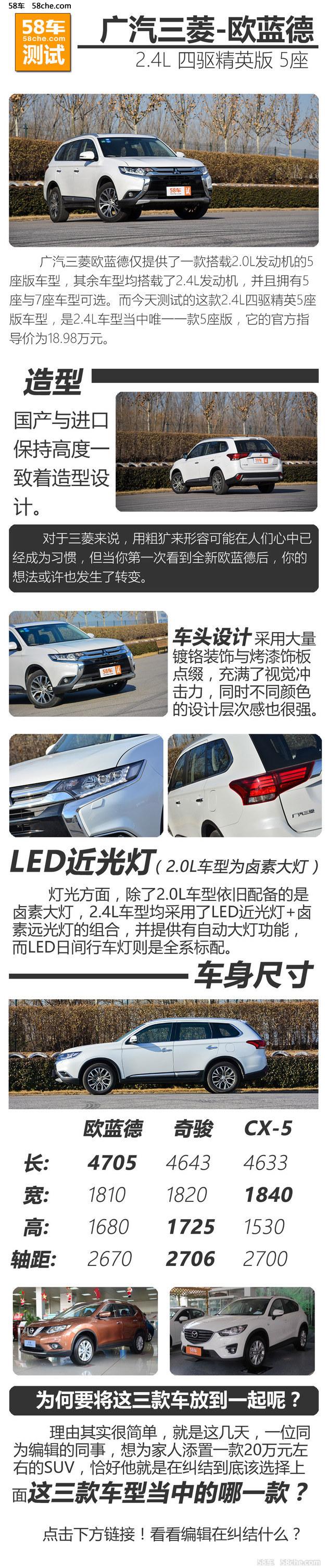 广汽三菱欧蓝德2.4L测试 轻松10秒以内