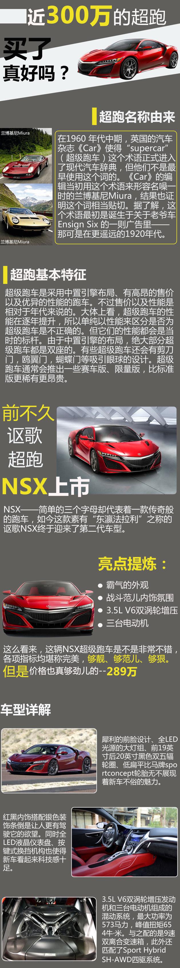 将近300万讴歌NSX超跑 买了真的好吗?