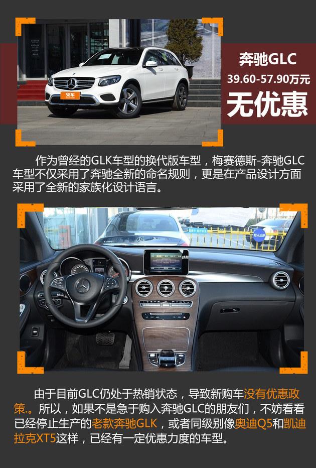 奔驰GLC无优惠 豪华品牌紧凑SUV如何选