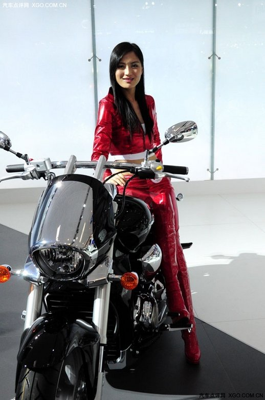 摩托车车模 香车美女