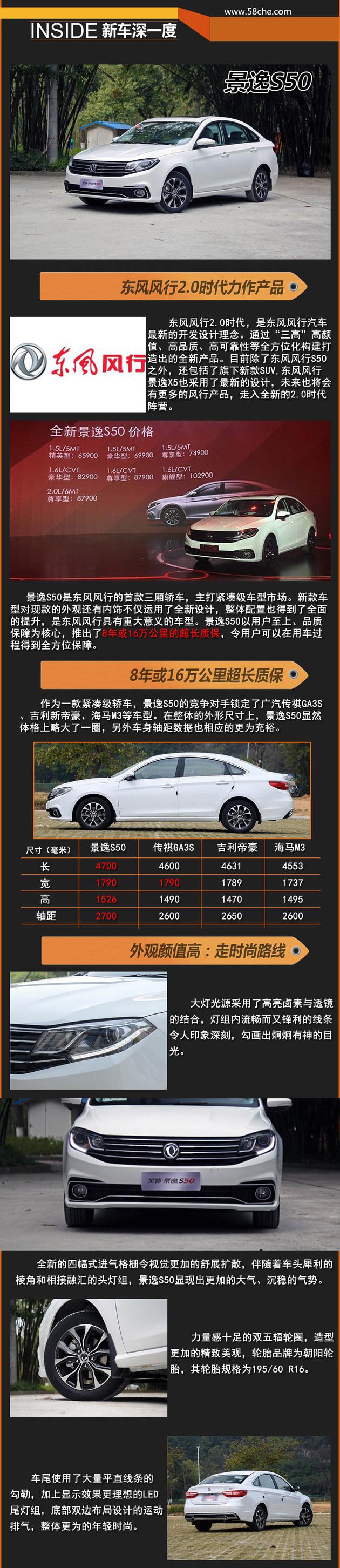 东风风行全新景逸S50 新车深已经解析