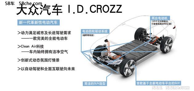 2017上海车展 大众SUV I.D.Crozz实拍