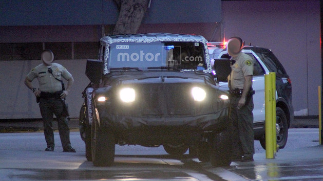 新Jeep牧马人间谍照片曝光 或年底发布
