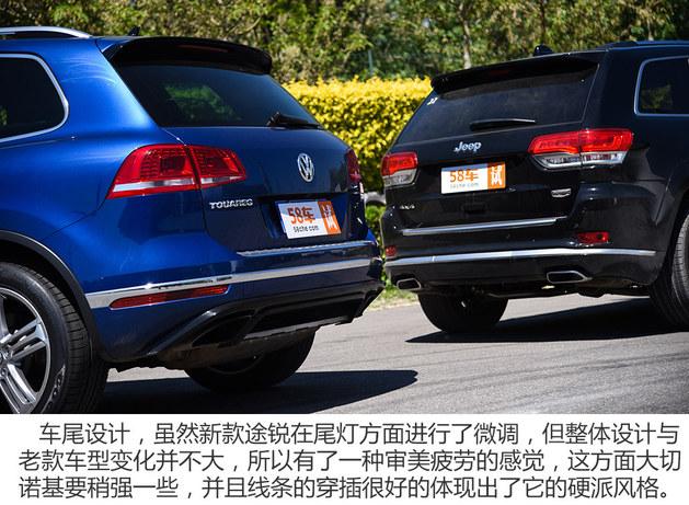 中大型SUV到底该选谁 大切诺基对比途锐
