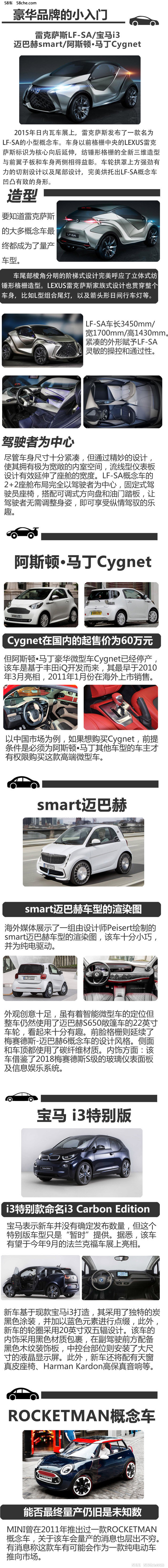 雷克萨斯LF-SA/Cygnet相当 豪华品牌小入门
