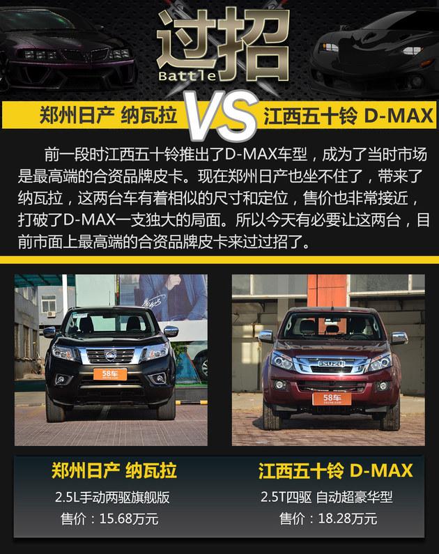 日产纳瓦拉过招D-MAX 国产高端皮卡之争
