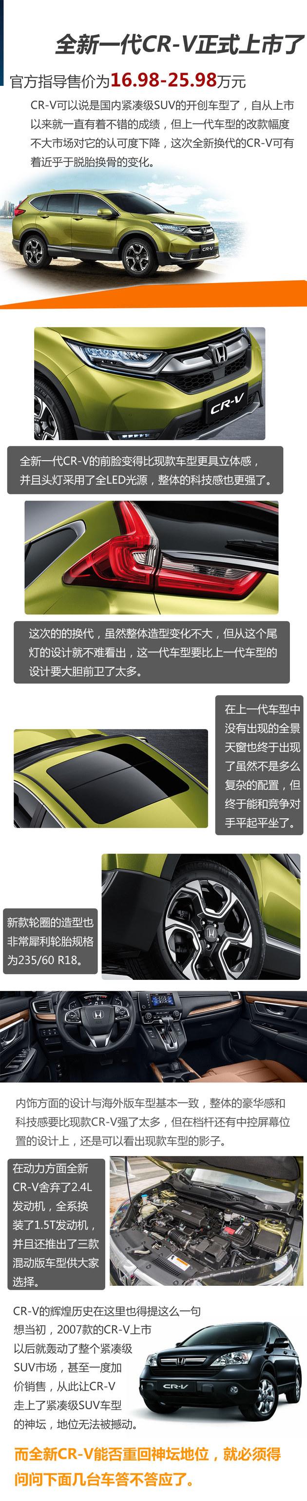 新CR-V能否重回神坛 得先赢过这几台车
