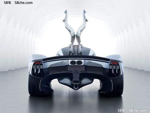Valkyrie并没有所谓的后保险杠设计,巨大的尾部扩散器甚至凸出整个车体,为了使新车底部空气快速通过,甚至排气被布局在新车尾部之上。搭配后扰流板和全新的尾灯组造型,给人感觉非常奇特。